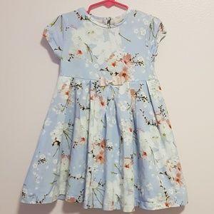 Girls Ted Baker Blue flower print dress 4T